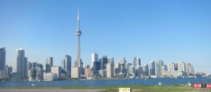 The skyline of the downtown of the City of Toronto, 2012,   A standard image of the city.