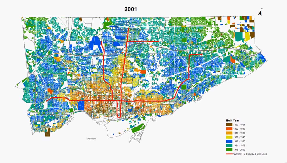 Maps of the urban growth of the City of Toronto Feb 2014 Toronto